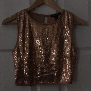 SM Blush Pink Sleeveless Sequin Crop Top